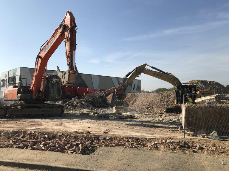 Beginning of demolition project
