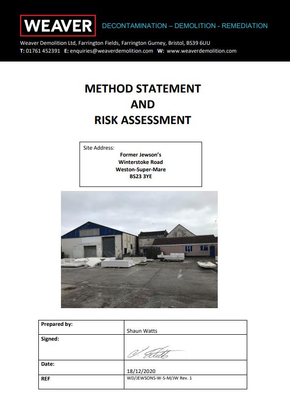method statement